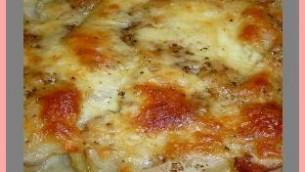 Potato Casserole with Tomato and Basil