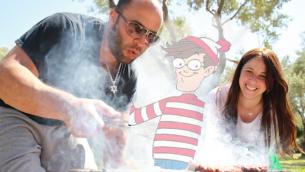 Waldo in park