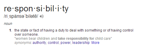 responsibillity