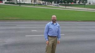 Rabbi David Lerner at J.F.K. assassination site