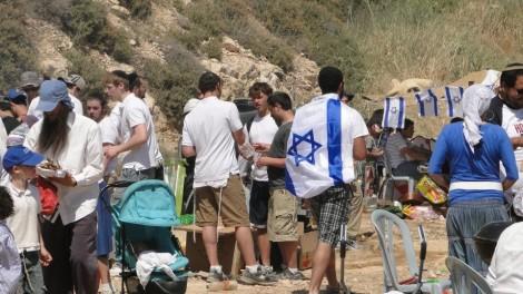 Celebrating Yom Ha'Atzmaut in Israel. Photo credit: Laura Ben-David