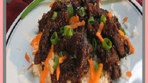 Crispy Beef with Vegetables, Ginger and Rice