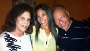 Spending time with my mom and dad in Israel!