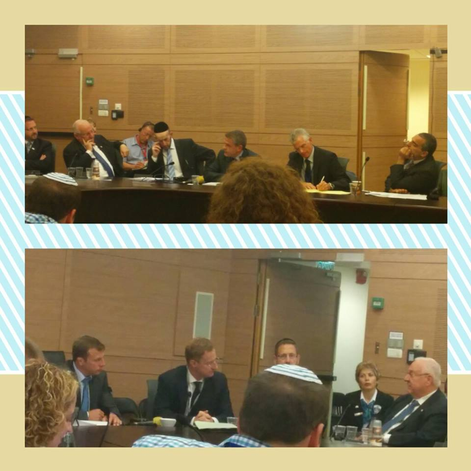 An urgent discussion held today at the Knesset on murders in Brussels with Belgian Ambassador