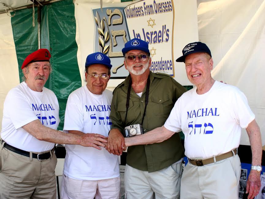 Machal members reunion, Mitch far R
