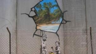 Banksy graffiti, from Wikipedia Commons