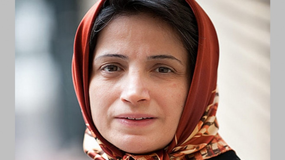 Nasrin Sotoudeh, an Iranian lawyer, was arrested while visiting her clients in prison