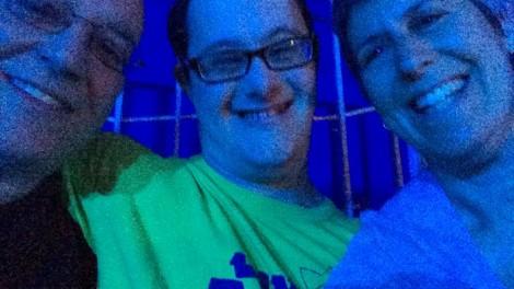 Ira, Akiva, and Beth at the circus