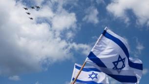 israeli planes plus flag