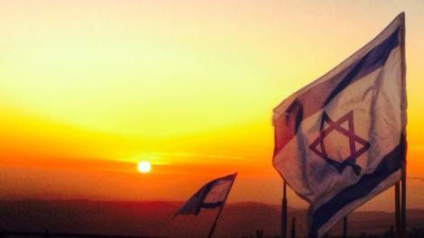 sunset flags