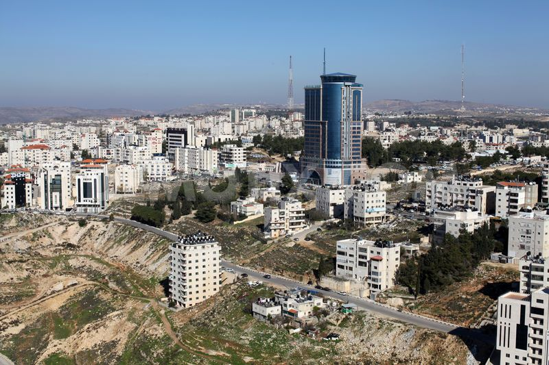 Ramallah and the Palestine Trade Tower.