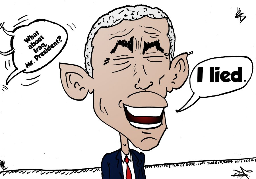 president obama caricature on US policy towards ISIS in Iraq