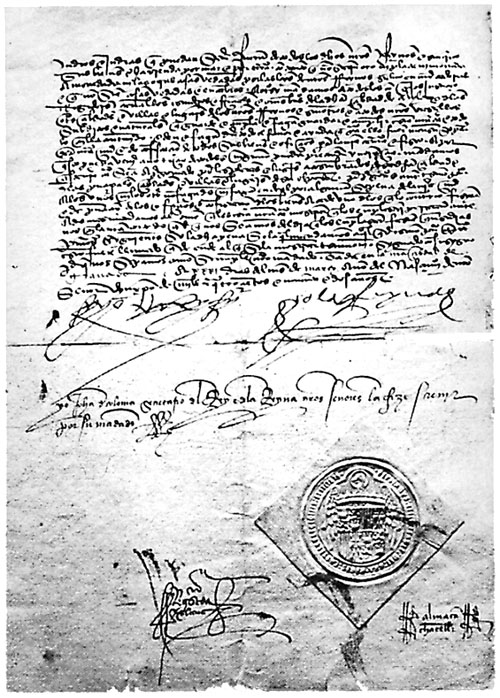 Decree of Expulsion of the Jews of Spain. This image is in the public domain due to its age.