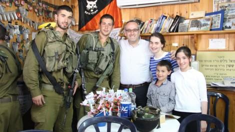 The Kalaty family of Ramat Beit Shemesh at the Pina Chama. Photo credit: Laura Ben-David