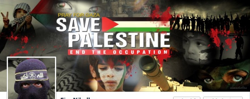 Anti-Israel Facebook Page (photo credit: Mietony, deviantart.com)