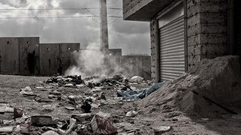 """Stills by Marc Grey/ACRI  from """"Three Houses"""": Life beyond the Separation Barrier in Jerusalem""""."""