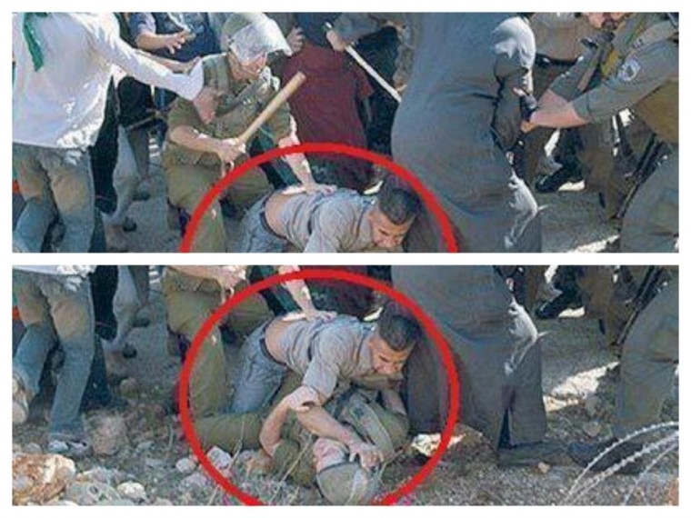 Pallywood - Palestinian media editing what they want. (photo credit: h/t Susan K and BNI, http://iranaware.com)
