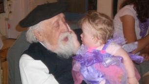 Professor Feuerstein with Rachel Emuna on the festival of Purim 2008.