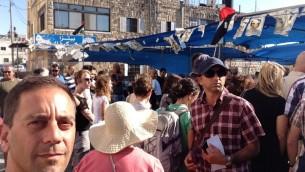 Berman at Shuafat Mourners Tent