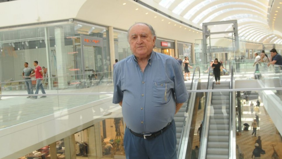 David Azrieli, (1922 - 2014) in his newly-built Azrieli mall in Modi'in, June, 2008. (photo credit: Jorge Novominsky/Flash90)