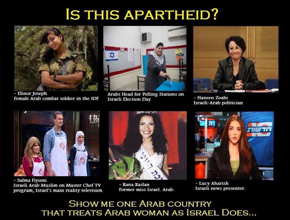 Apartheid lies against Israel