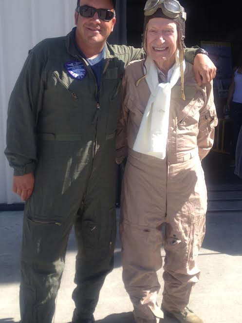 Jason Somes the most experienced pilot and 91 year old Mitch Flint