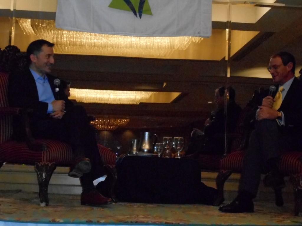 R-Daniel Silva and Rabbi David Wolpe in Q & A