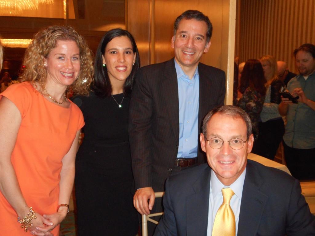 From L-Susie Meyers, Michal Taviv-Margolese, Rabbi David Wolpe, Author Daniel Silva
