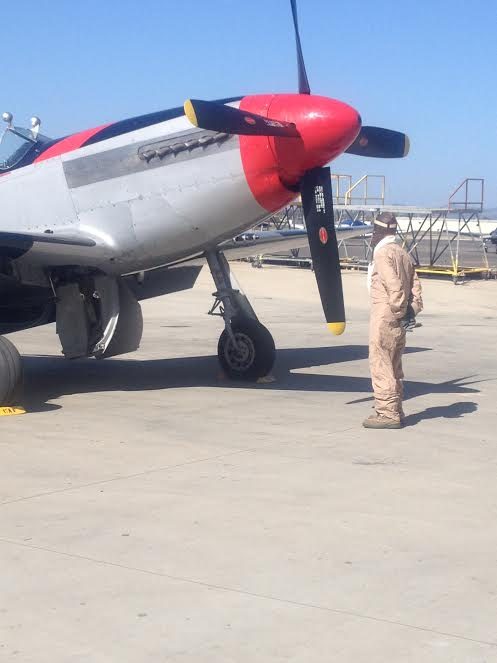 Mitch checks the plane before take off many years passed since he flew the Mustang - a hero Israel must not forget