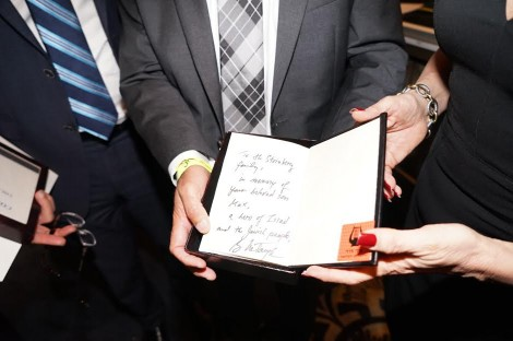 Bible signed by PM Netanyahu given to the bereaving family-Photo Orly Halevy