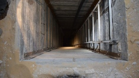 A Hamas 'Terror Tunnel' (CC-BY-SA,Israel Defense Forces,Wikipedia)