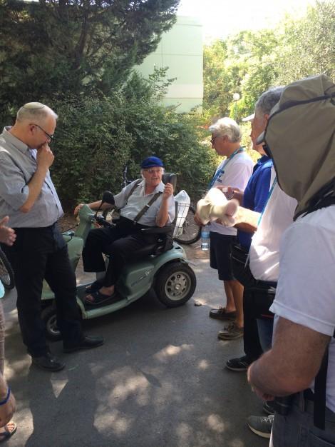 Octogenarian child Holocaust survivor now resident of Kibbutz Alumim, under fire