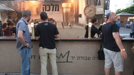 some early birds beat the later long lines for Malka's popular brews