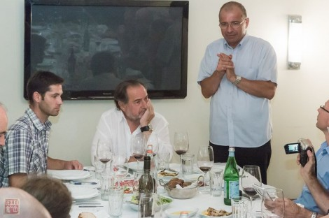 Dr. Arkadi Papikian talks about his collaboration with Rolland (photo; Shai Gilboa)