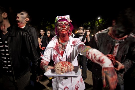 When zombies attack (illustrative photo: Dima Vazinovich/Flash90)