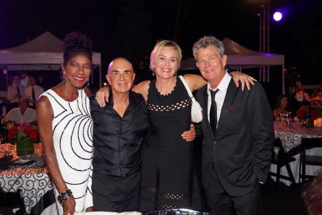From L-Natalie Cole, Robert Shapiro, Sharon Stone, composer David Foster-Photo Orly Halevy