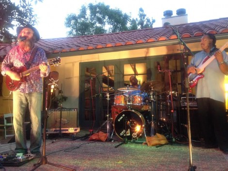 L-Lazer Lloyd and R Bassist Felton Crews, in the back on drums Kenny Coleman -Photo Nurit Greenger