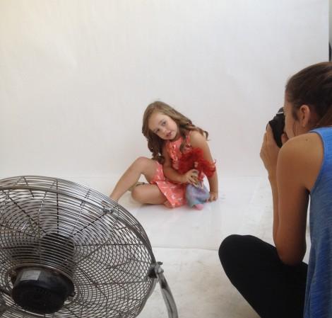 The photo shoot. Photo credit: Laura Ben-David