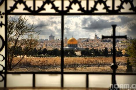 mount of olives view jerusalem