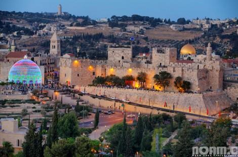 birdeye view of jerusalem old city