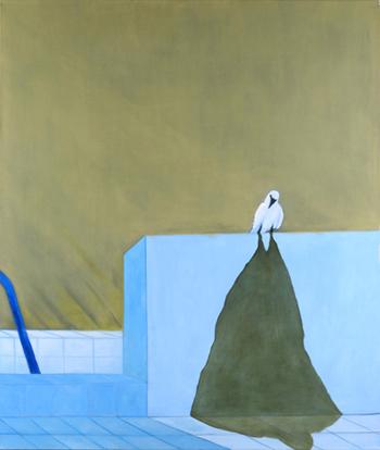 White Crow, 2010, Oil on canvas, 150 x 130 cm by Shimon Pinto