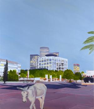 Tel Aviv, 2011, Oil on canvas, 150 X 130 cm by Shimon Pinto
