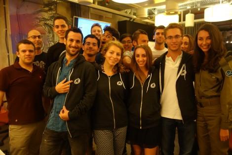 Shot on location - September 10, during StartupPirates - Tel Aviv - a room full of high energy startup entrepreneurs.  Shwag courtesy of Rackspace.