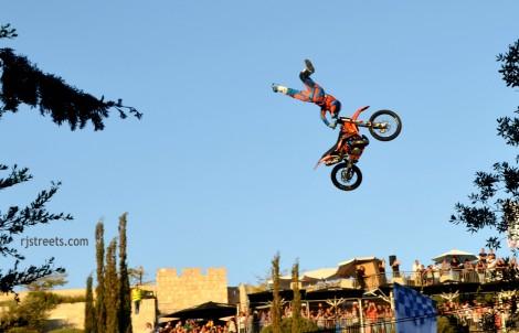 motorcycle in air