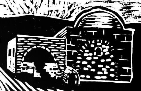 Rachels Tomb Block Print