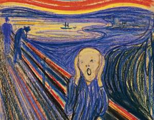 "Detail from ""The Scream,"" Edvard Munch"