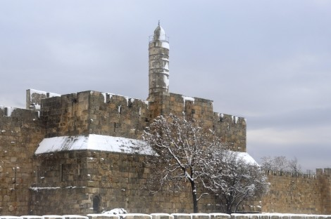 Tower of David in Snow