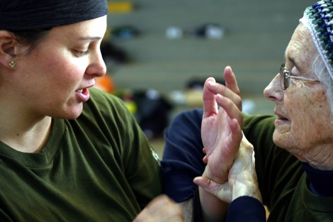 Women who take classes at El Halev build confidence and self-defense skills (courtesy)