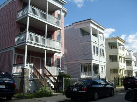 Triple-deckers in Dorchester