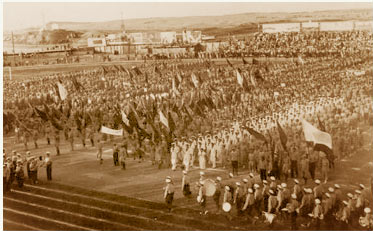 1st_Maccabiah opening ceremony